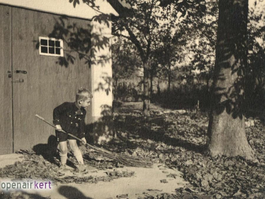 A Bozóky-villa kertje az 1940-es években