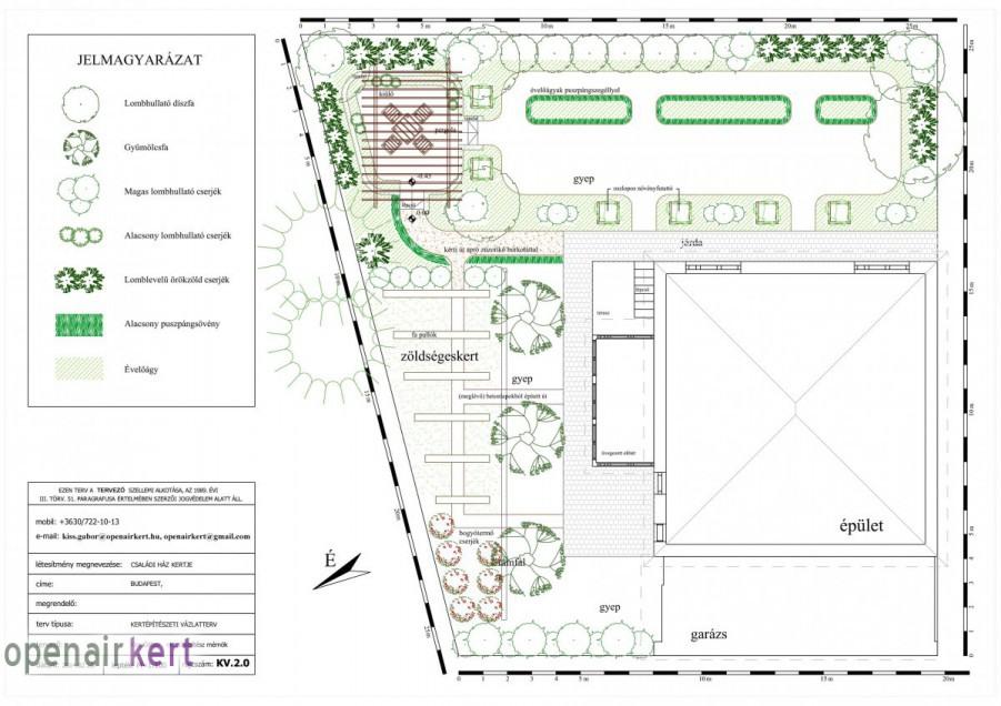 Kerttervezés folyamata - kertépítészeti vázlatterv 02