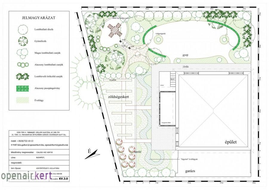 Kerttervezés folyamata - kertépítészeti vázlatterv 01
