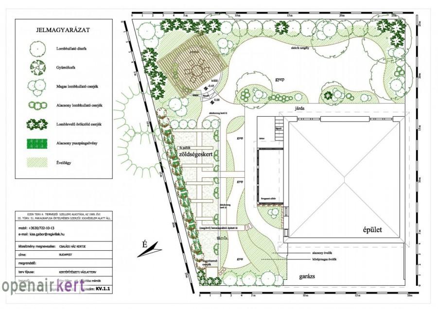 Kertépítészeti ötletterv 1.2. változat, 8. kerület, Tisztviselőtelep
