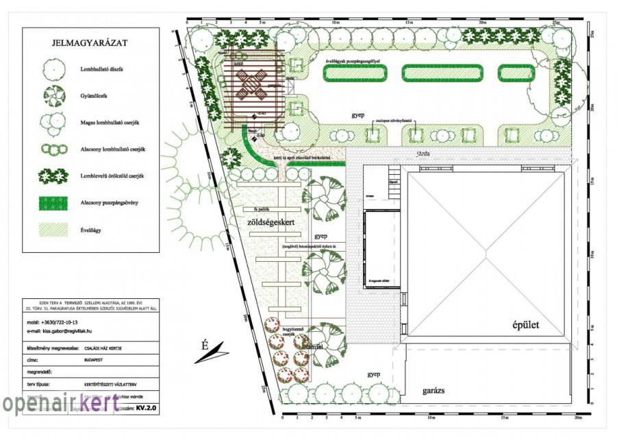 Kertépítészeti ötletterv 2. változat, 8. kerület, Tisztviselőtelep