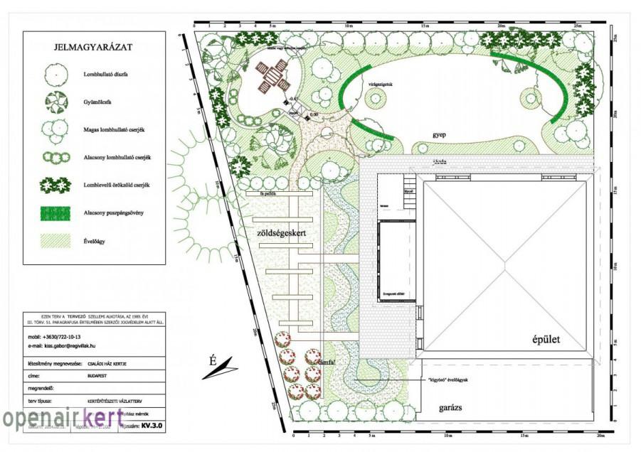 Kertépítészeti ötletterv 3. változat, 8. kerület, Tisztviselőtelep